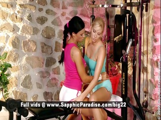 ashley and bianca lesbo teen babes have sex in