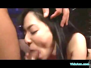 oriental bitch gets bulky cocks to please her