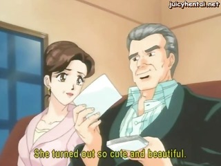 anime brunette uses shower on her cunt and