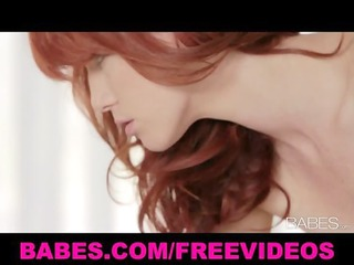 beautiful redhead loves to massage and kiss her