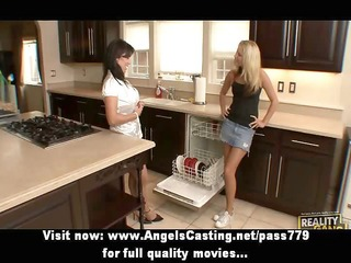amazingly hot breasty lesbos undressing and