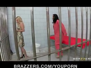 breasty lesbian prisoner forces new in-mate